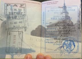 Mali Visa--sent to Embassy