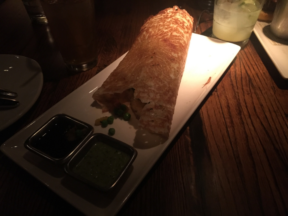 The delicious masala dosa