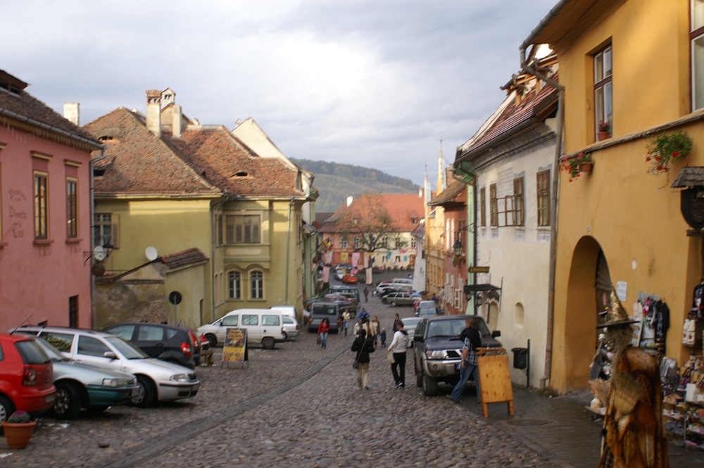 The cute cobblestone streets of Sighisoara