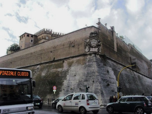 The Vatican City walls are crazy thick!