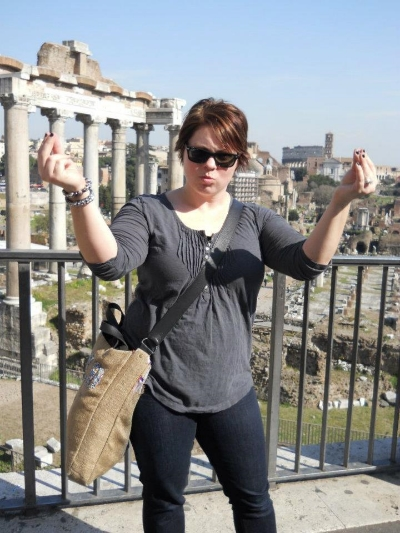 Ciao Bella (at the Roman Forum)!