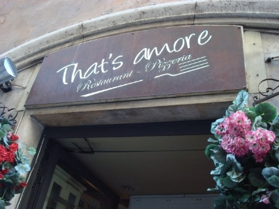 For a great, authentic meal, grab a bite at That's Amore!