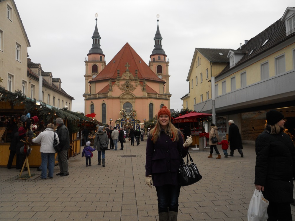 Visiting a Christmas market in one of the smaller, neighboring villages to the large city of Stuttgart
