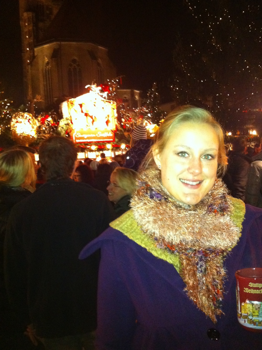 You can't visit the markets without a hot mug of gluhwein (or hot, mulled wine with seasonal spices)