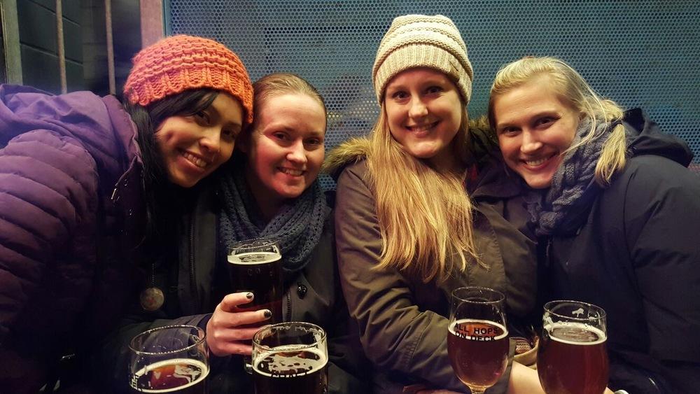 Enjoying a beer at Brewdog
