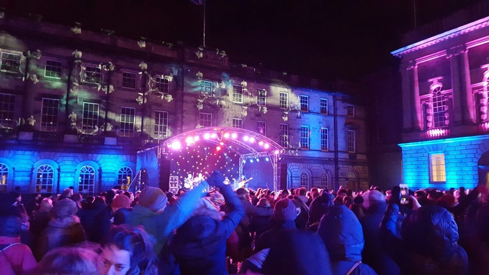 The Ceilidh being held in Parliament Square