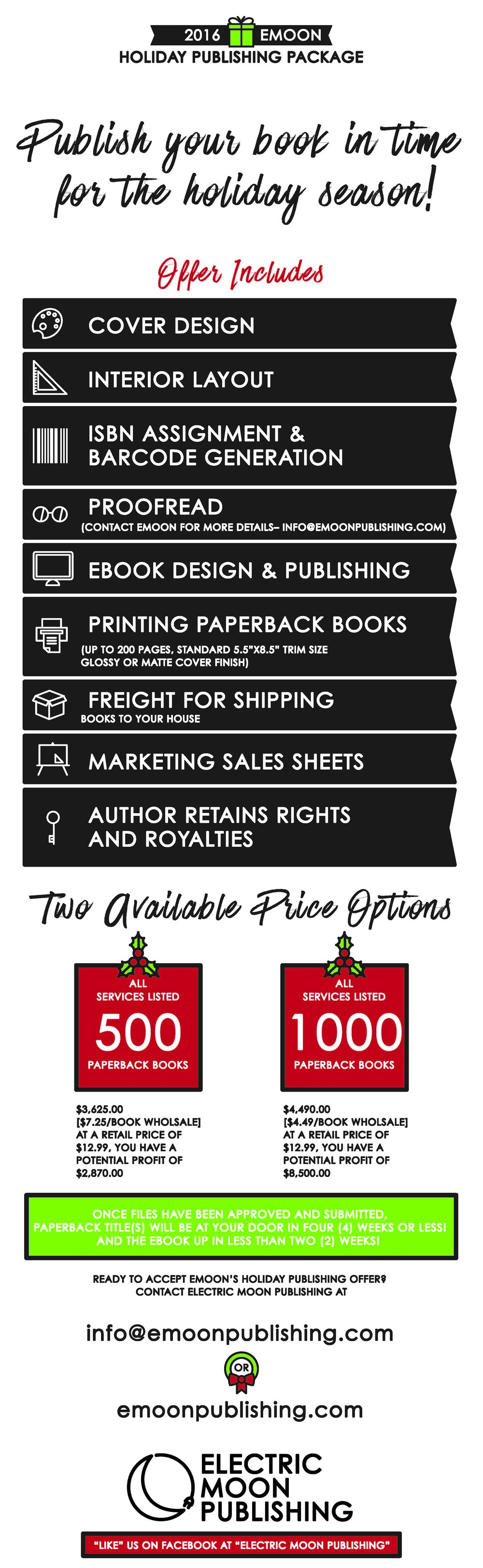 2016 holiday publishing package