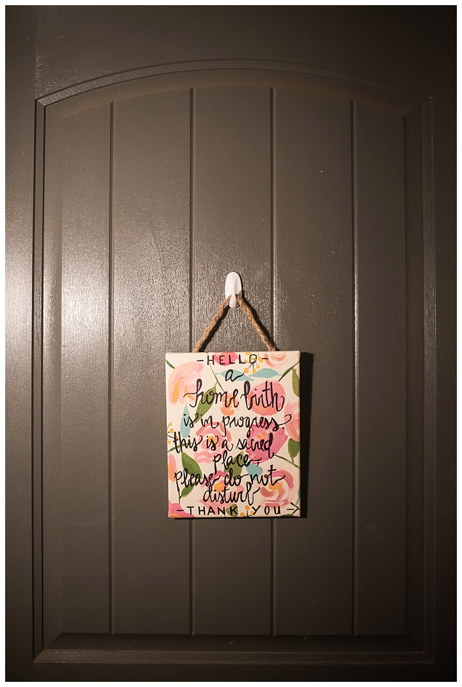 Homebirth Door Sign