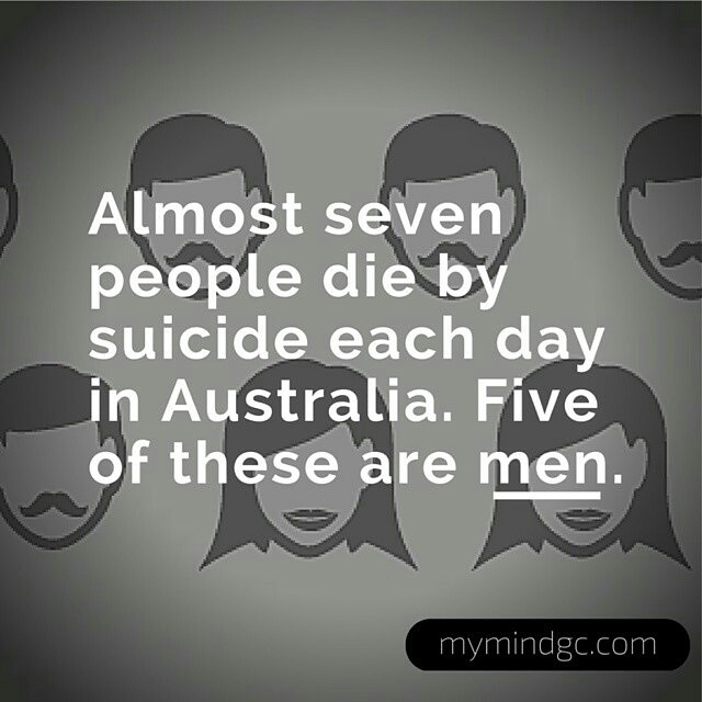 Get them to talk to someone. Starting a conversation is hard, I know. But be brave. . repost via @instarepost20 from @mymindgc  Isn't that a terrifying fact  ?   It's Men's Health Week this week. And it's never been more important to highlight the mental health of Australian men and boys.   Let's get everyone talking about mental health - especially the men folk. A conversation can make the world of difference