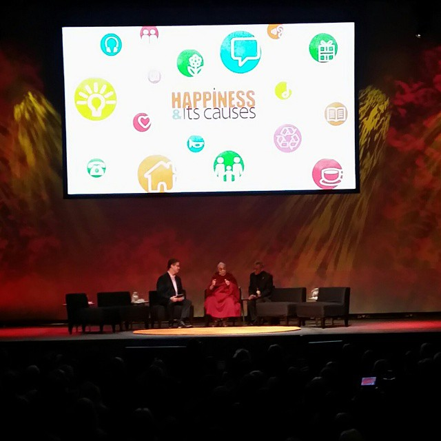 Here he is. Speaking on ethics and compassion. #dalailama #laughter #happinessanditscauses #acceptance