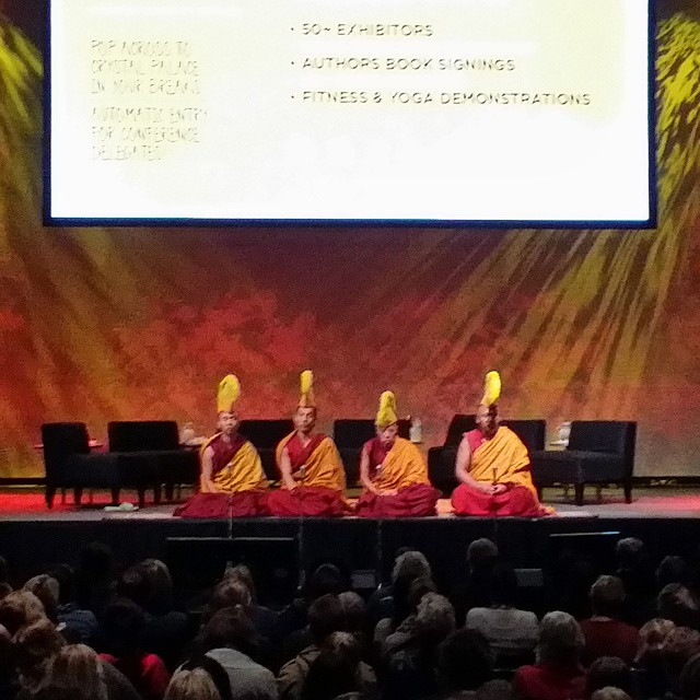 Getting my zen on with the monks. #happiness and its causes.