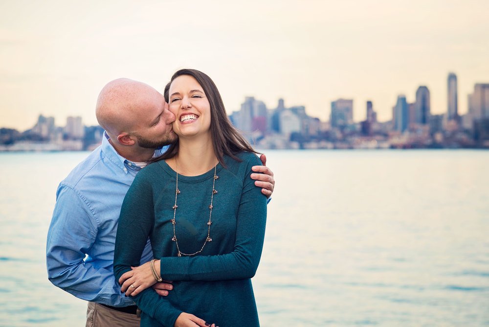 Seattle Wedding Photographer_Alki Beach_Beach Engagement_laugh