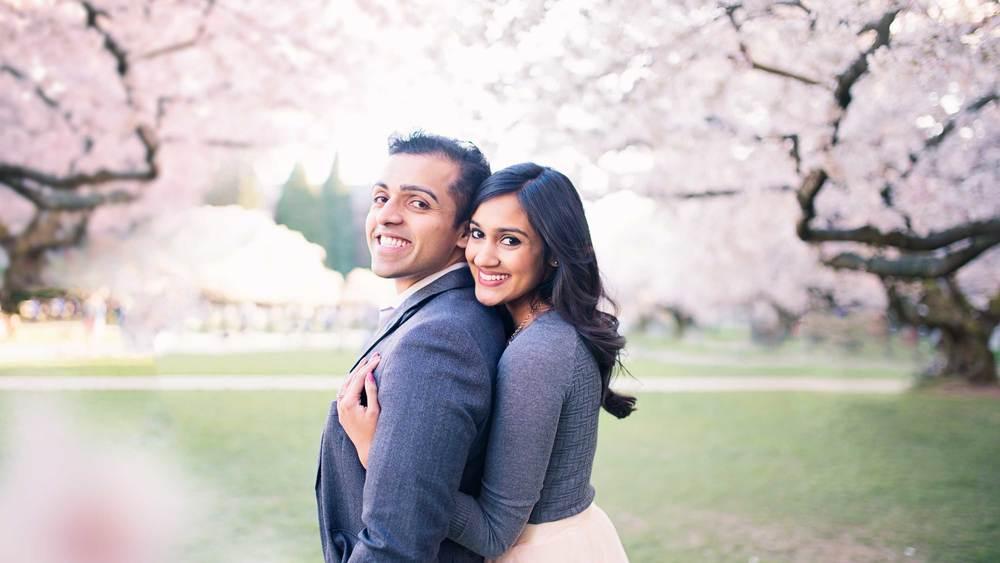 Cherry Tree Blossom Engagement_Seattle Wedding Photographer_Kelsey Lane Photography_1