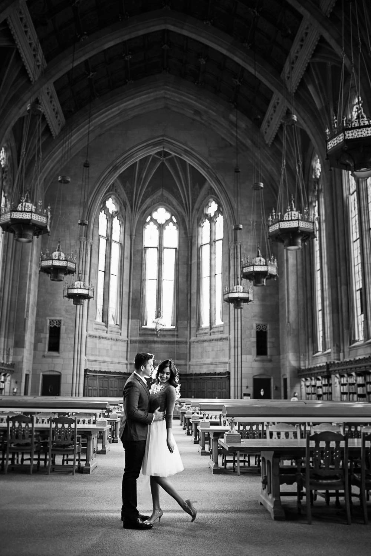 Romantic engagement_UW Library_Seattle Wedding Photographer_Kelsey Lane Photography_1