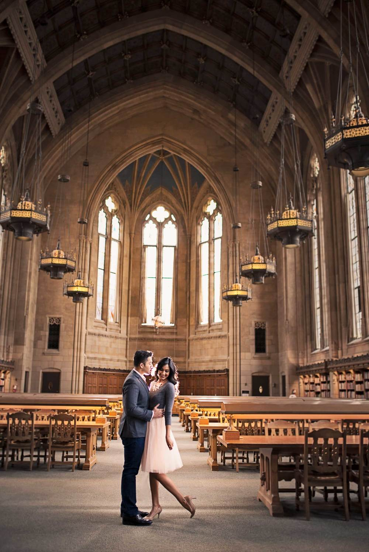 Romantic engagement_UW Library_Seattle Wedding Photographer_Kelsey Lane Photography_2