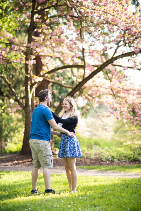 Woodsy Engagement_Park Engagement_Seattle Engagement_Arboretum_University of Washington_Cherry Tree Blossoms_Flower Engagement_Kelsey Lane Photography_1