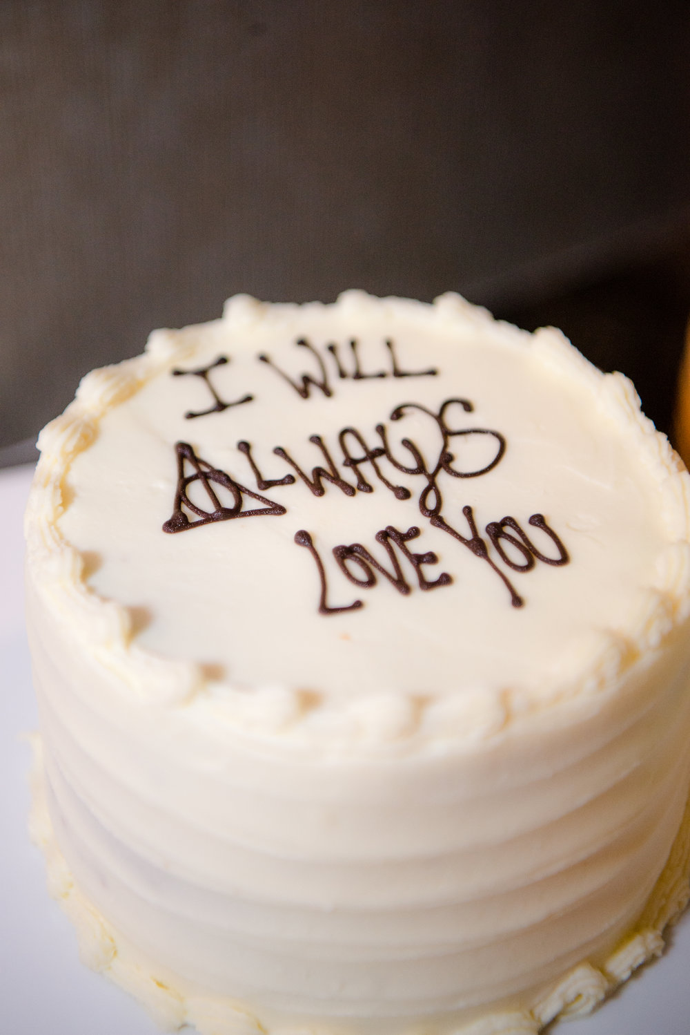 Salish Lodge Wedding_Kelsey Lane Photography_Montana Wedding Photographer_Missoula Wedding Photographer_Bozeman Wedding Photographer_wedding cake_Harry Potter wedding cake