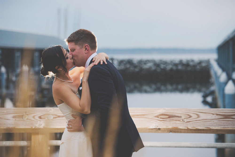 Edmunds Yacht Club Wedding_Montana Wedding Photographer_Missoula Wedding Photographer_Kelsey Lane Photography_Bride and Groom Kiss