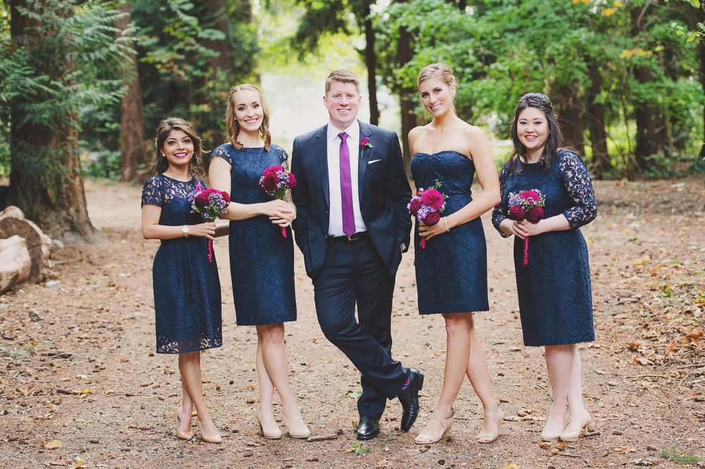 Edmunds Yacht Club Wedding_Montana Wedding Photographer_Missoula Wedding Photographer_Kelsey Lane Photography_groom and bridesmaids
