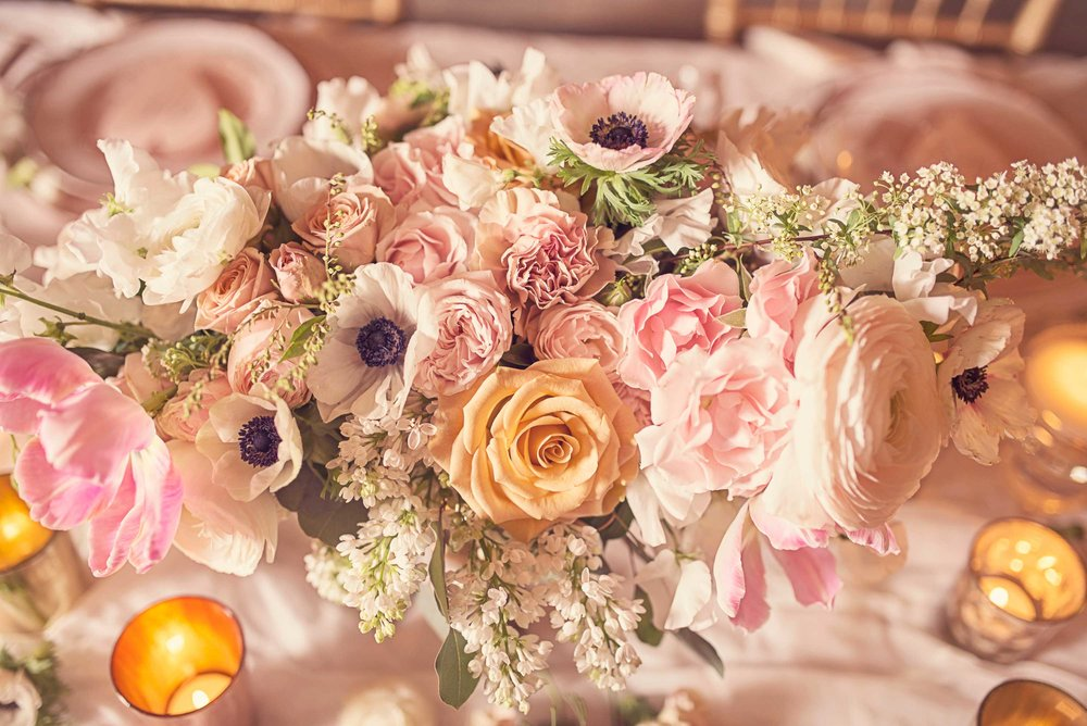Blush Wedding, Elegant Wedding, Pink Wedding, Montana Wedding Photographer, Reception Flowers