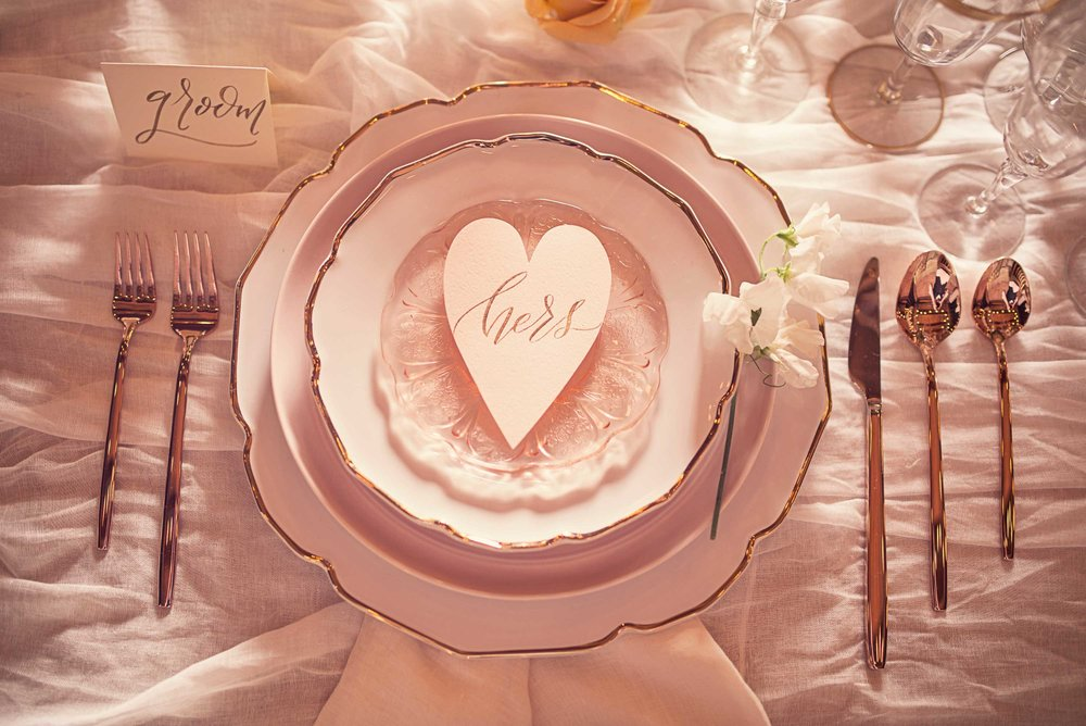 Blush Wedding, Elegant Wedding, Pink Wedding, Montana Wedding Photographer, Blush reception plate