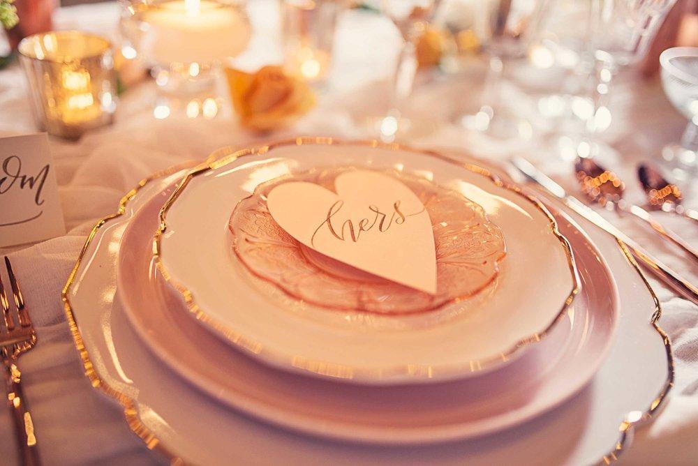 Blush Wedding, Elegant Wedding, Pink Wedding, Montana Wedding Photographer, blush reception plate