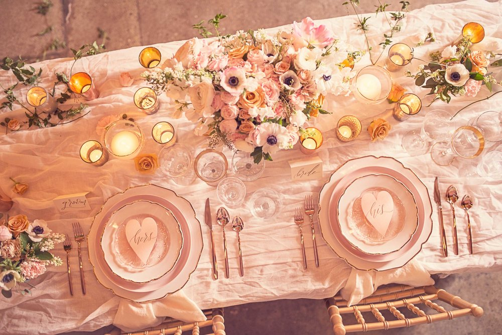 Blush Wedding, Elegant Wedding, Pink Wedding, Montana Wedding Photographer, Blush reception table