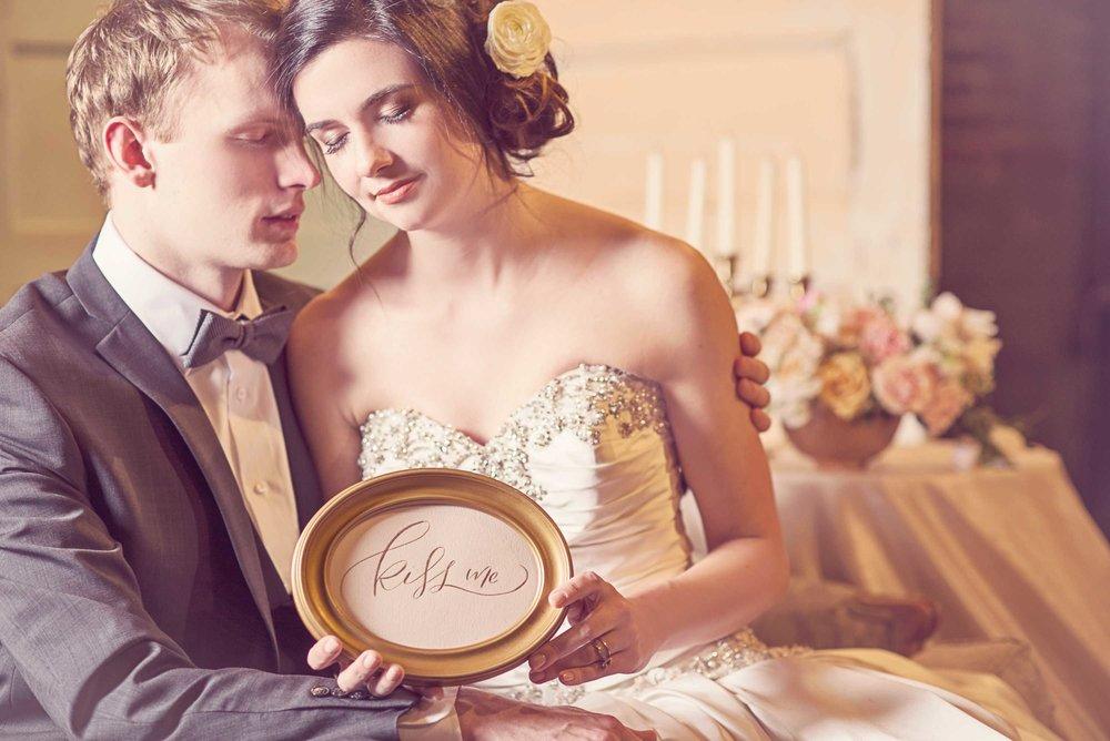 Blush Wedding, Elegant Wedding, Pink Wedding, Montana Wedding Photographer, kiss me, wedding caligraphy