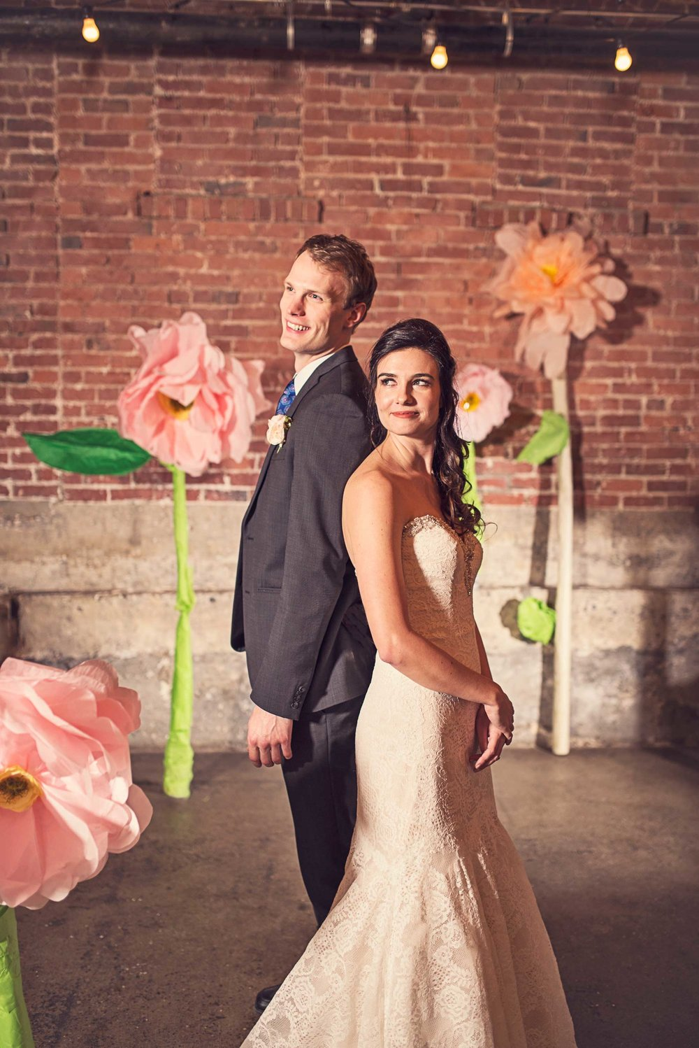 Blush Wedding, Elegant Wedding, Pink Wedding, Montana Wedding Photographer, Big paper flowers, paper flower wedding
