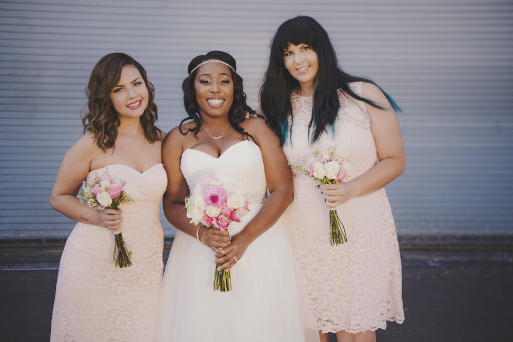 Gold Wedding_Montana Wedding Photographer_Within Sodo Wedding_Kelsey Lane Photography_pink bridesmaids