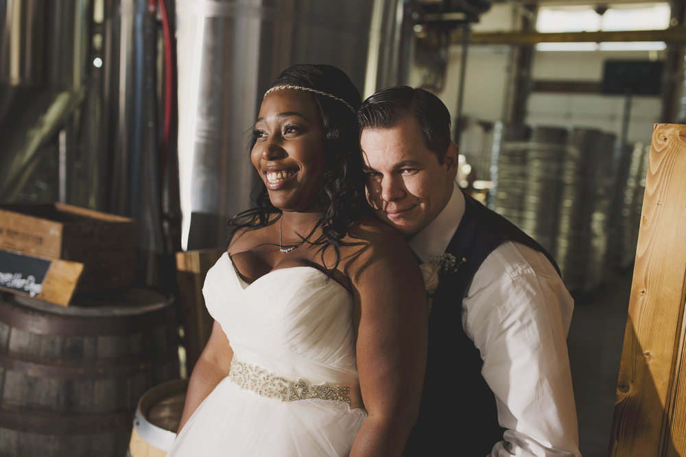 Gold Wedding_Montana Wedding Photographer_Seapine Brewery_Within Sodo Wedding_Kelsey Lane Photography_bride and groom at brewery
