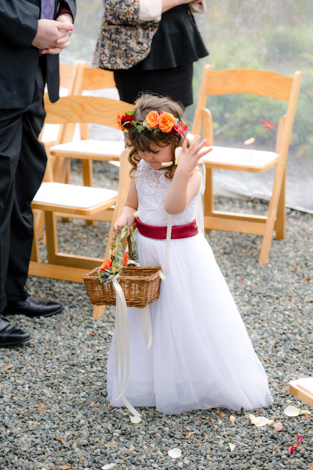 Rini + Matt Wedding_Tree Farm Wedding_Wedding at the Lodge_Kelsey Lane Photography_Winter Wedding_flower girl