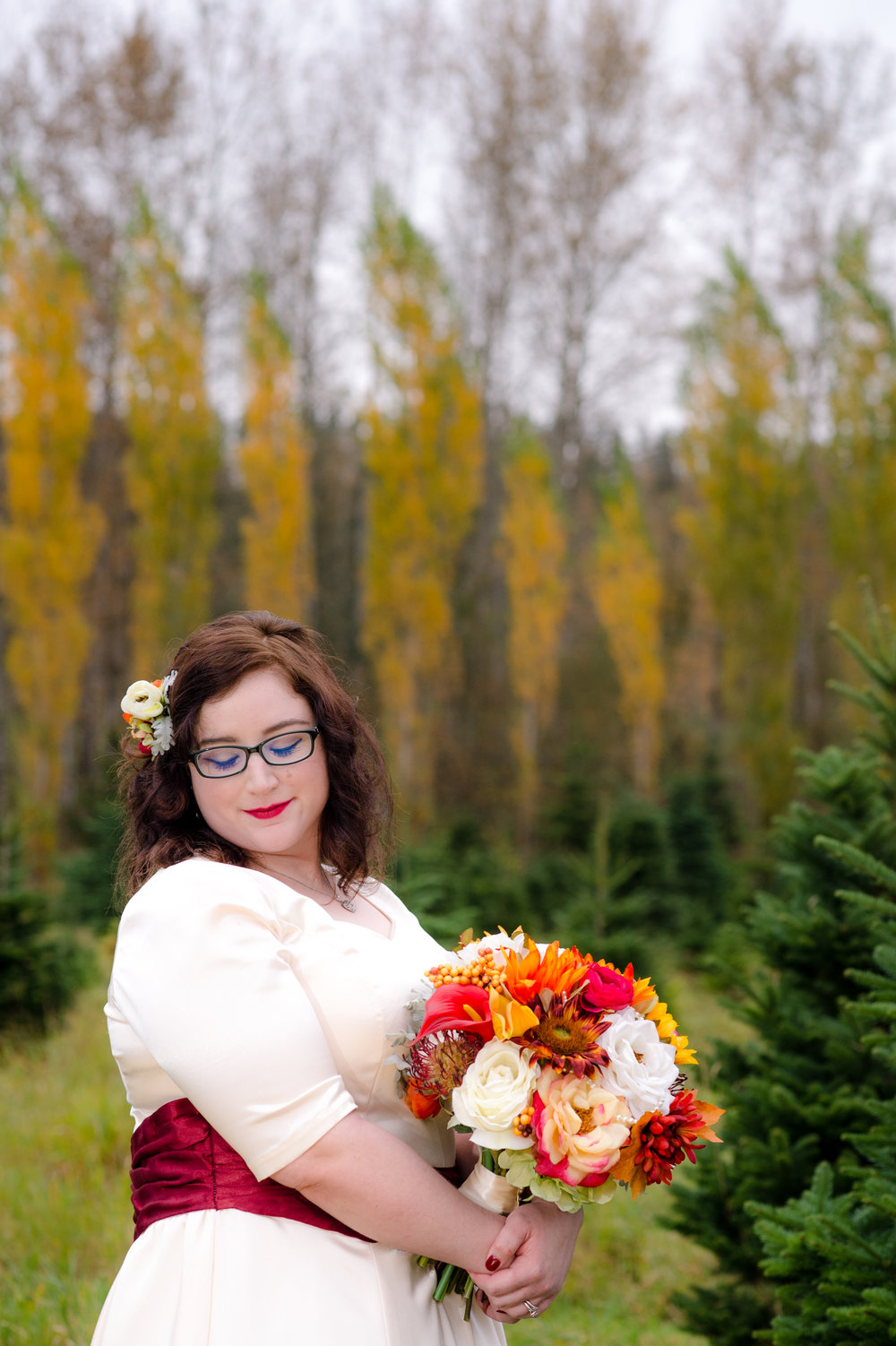 Rini + Matt Wedding_Tree Farm Wedding_Wedding at the Lodge_Kelsey Lane Photography_Winter Wedding_winter bride