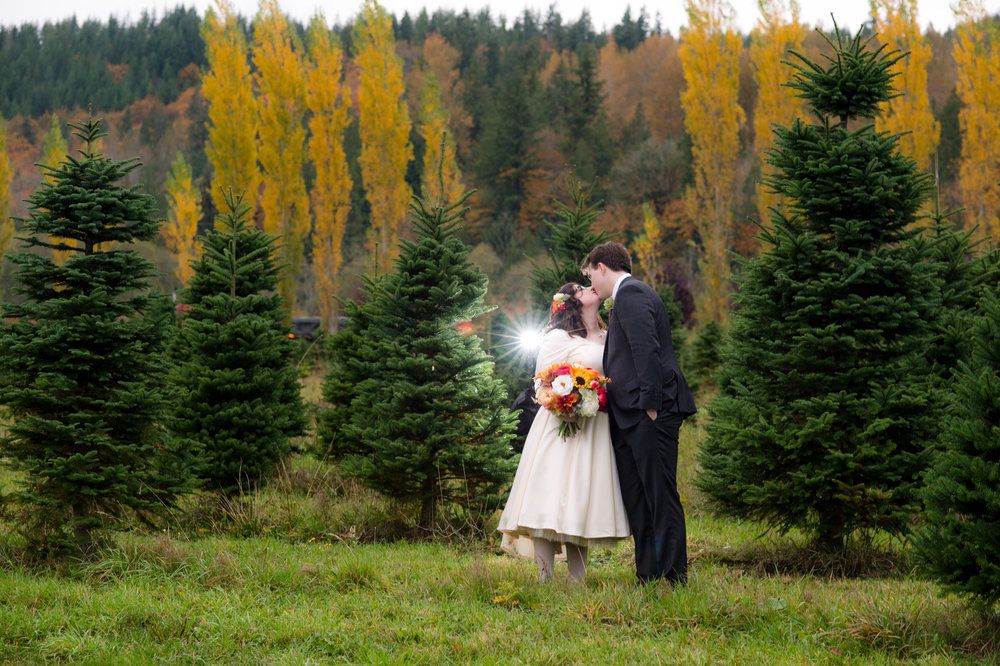 Rini + Matt Wedding_Tree Farm Wedding_Wedding at the Lodge_Kelsey Lane Photography_Winter Wedding_winter bride and groom