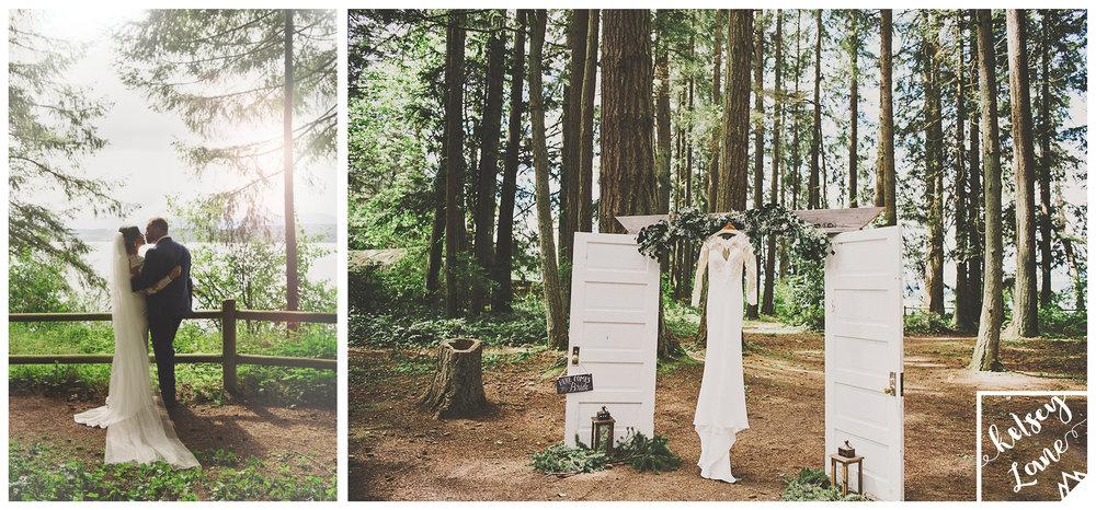 A Gorgeous Forest Wedding | Poulsbo Wedding | Kelsey Lane Photography | Martina Liana Bridal