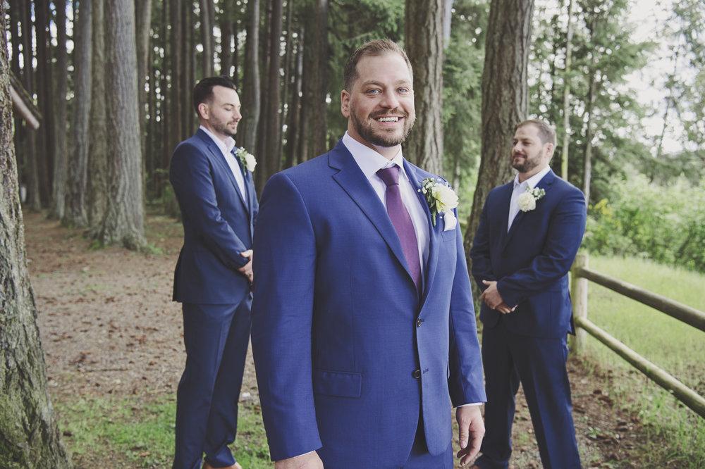Pacific Northwest Wedding | Forest Wedding | Kitsap Memorial Park Wedding | Kelsey Lane Photography | Groomsmen