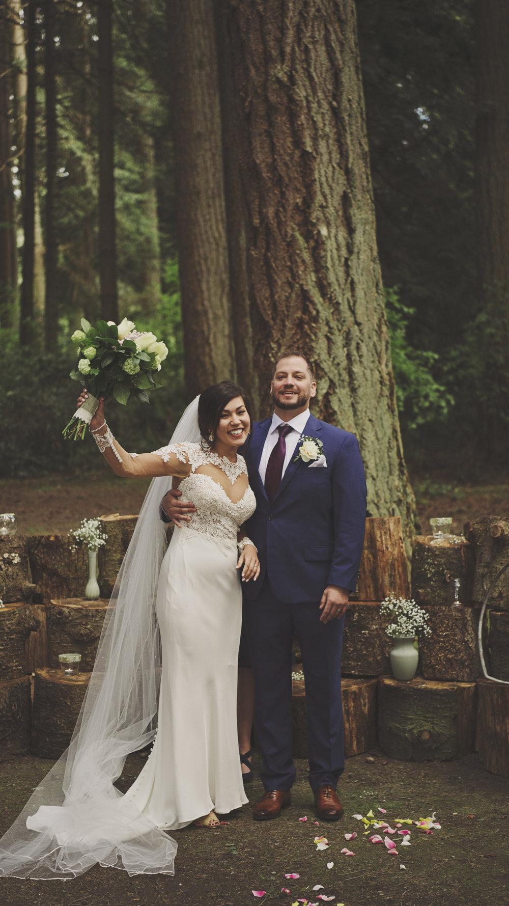 Woodsy Wedding_Kitsap Memorial State Park_Kelsey Lane Photography_3