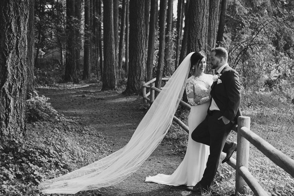 Woodsy Wedding_Kitsap Memorial State Park Wedding_Kelsey Lane Photography_bride with veil