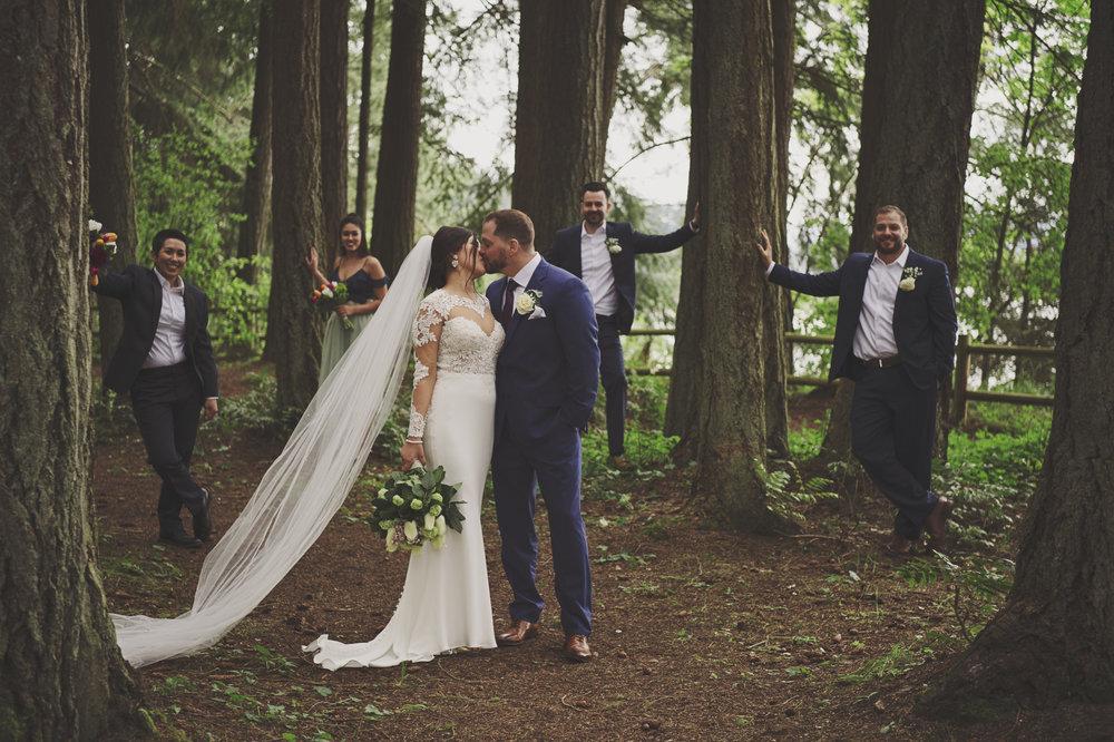 Woodsy Wedding_Kitsap Memorial State Park Wedding_Kelsey Lane Photography_wedding party