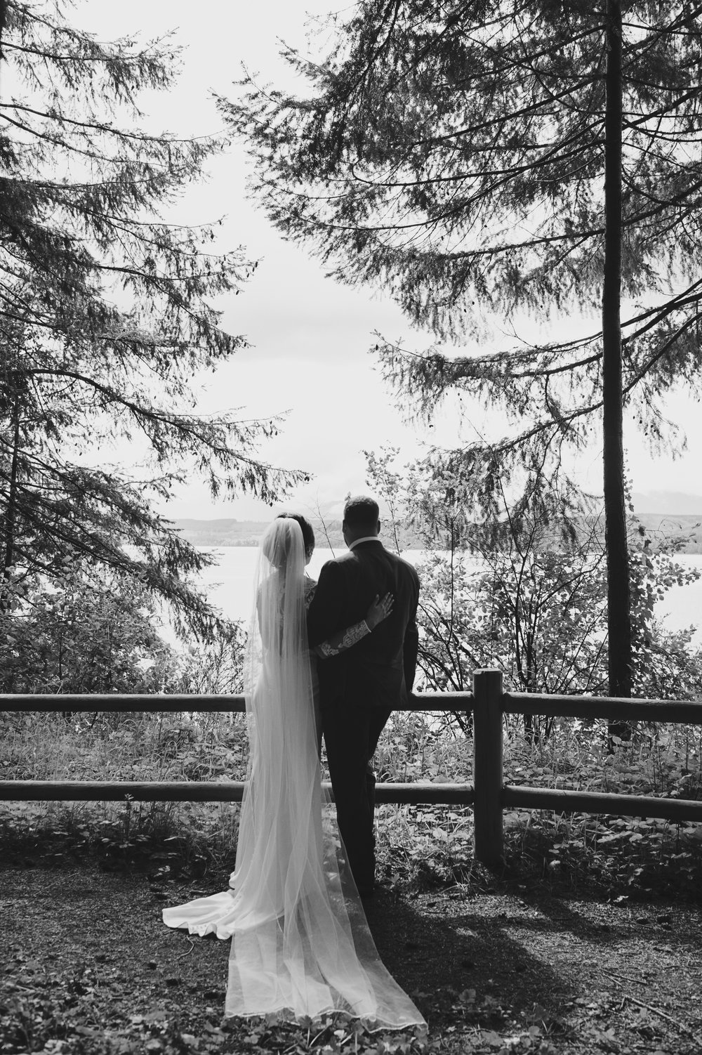Woodsy Wedding_Kitsap Memorial State Park Wedding_Kelsey Lane Photography_bride and groom in the woods