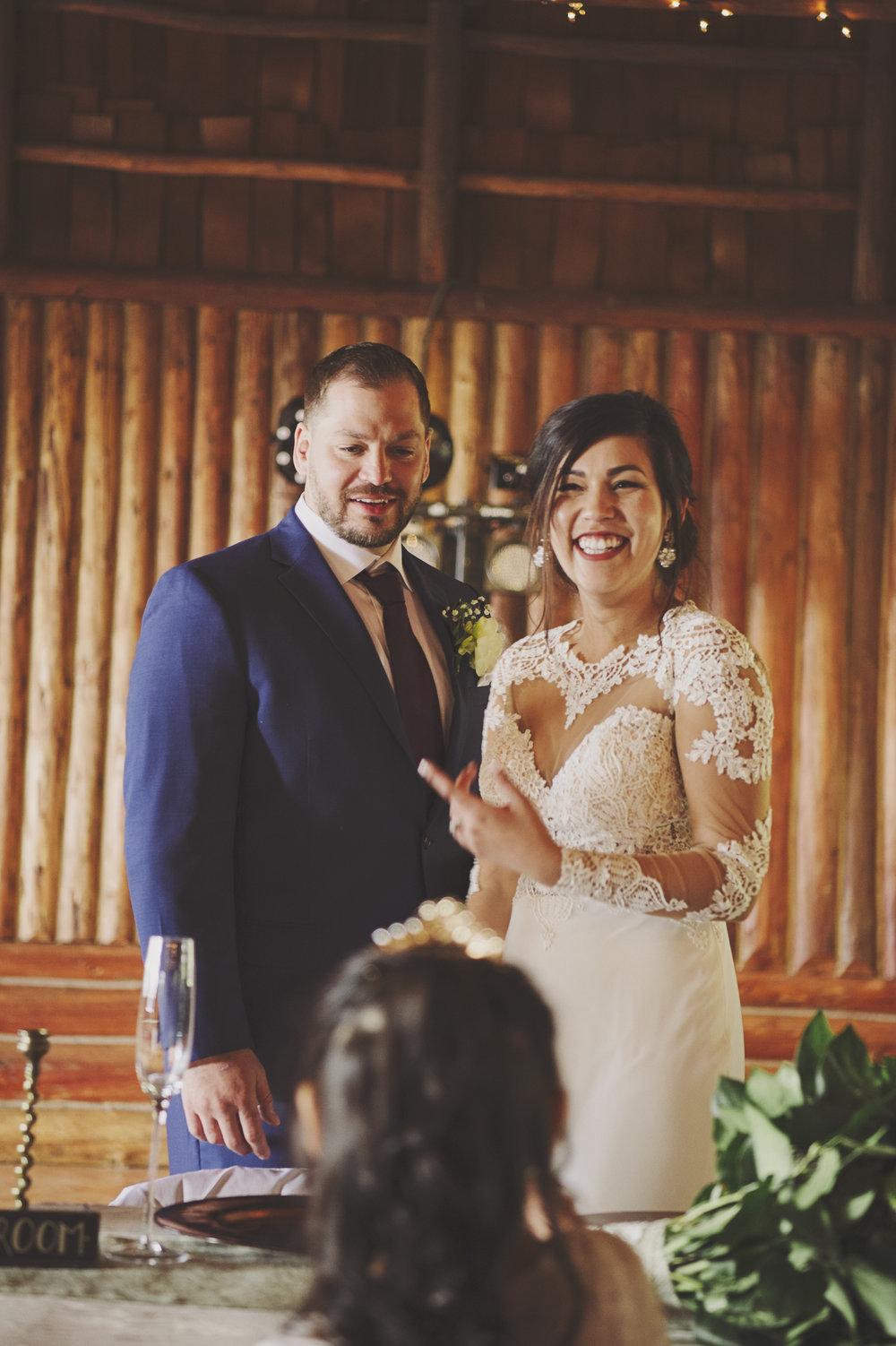 Woodsy Wedding_Kitsap Memorial State Park Wedding_Kelsey Lane Photography_reception bride and groom
