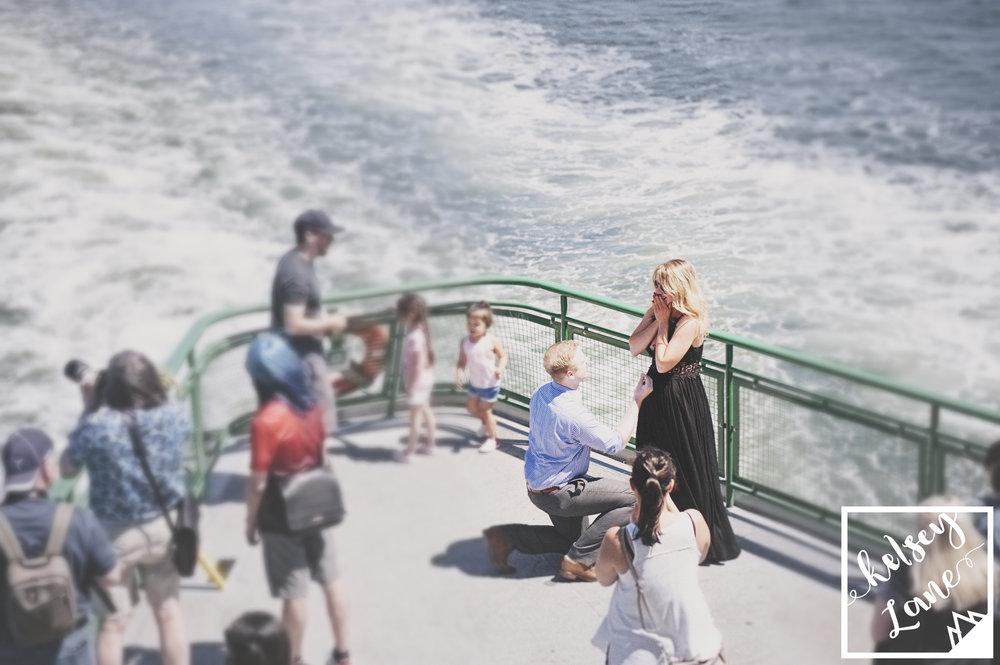 Ferry Engagement_Seattle Ferry Enagement_Montana Wedding Photographer_Kelsey Lane Photography_Proposal