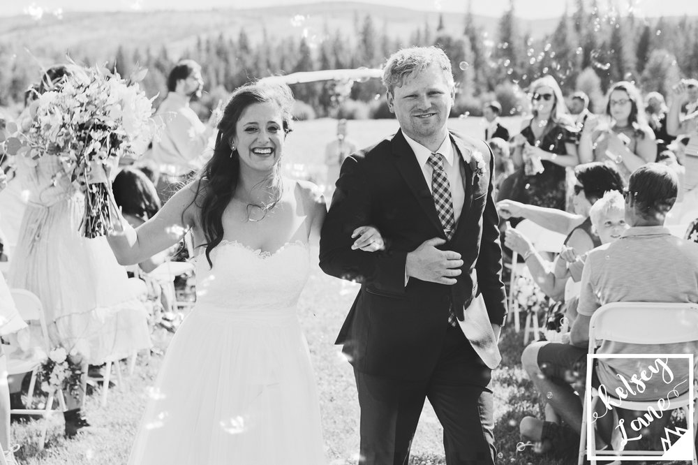 Rustic Montana Wedding_Grey Wolf Ranch_Kelsey Lane Photography_Bubbles Ceremony
