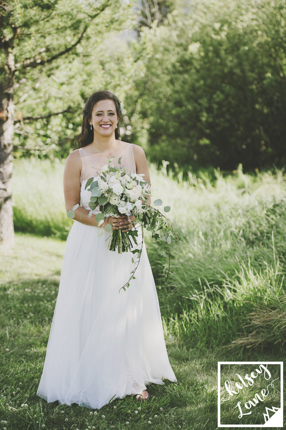 Rustic Montana Wedding_Missoula Wedding Photographer_Grey Wolf Ranch_Kelsey Lane Photography_Bitterroot Flower Shop_Wedding Dress