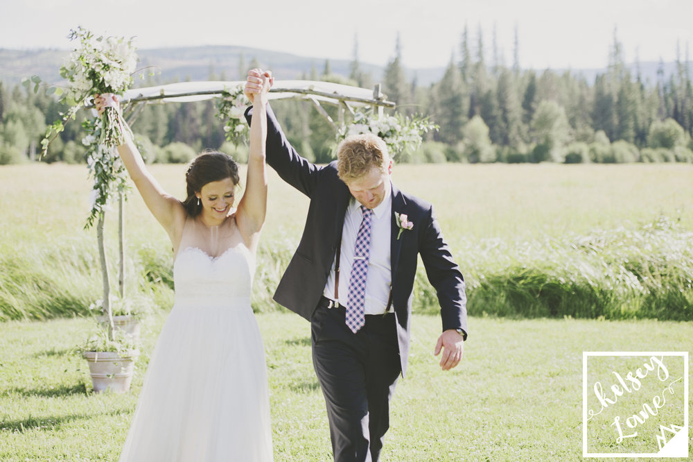Rustic Montana Wedding_Missoula Wedding Photographer_Grey Wolf Ranch_Kelsey Lane Photography_Cute Bride and Groom