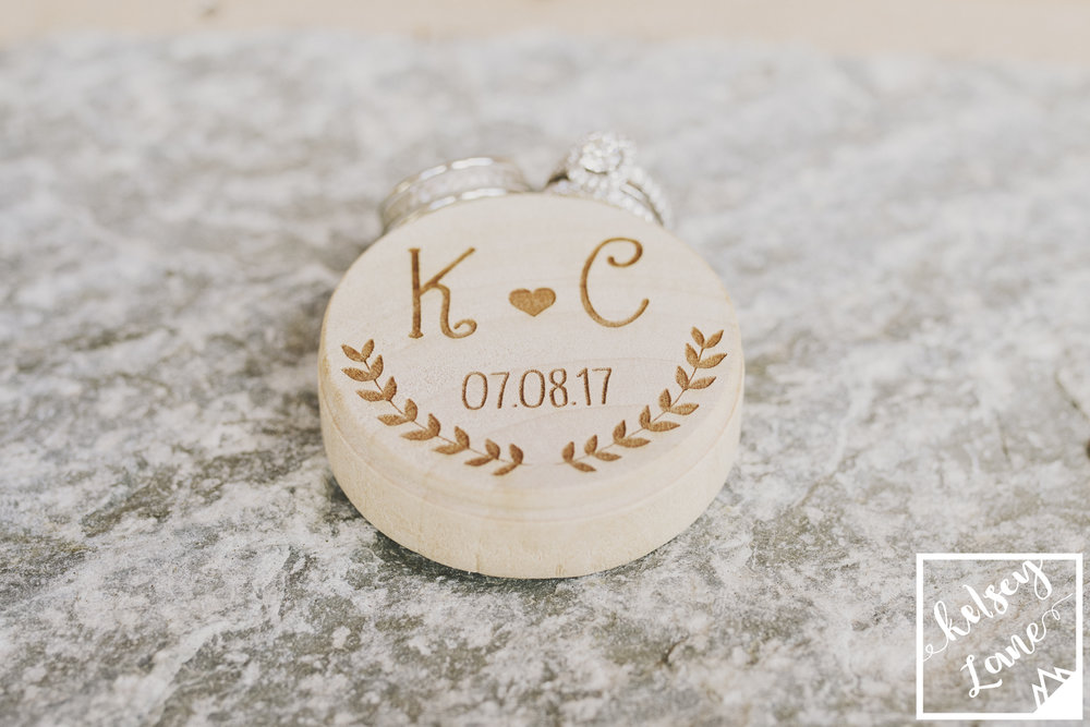 Rustic Montana Wedding_Missoula Wedding Photographer_Grey Wolf Ranch_Kelsey Lane Photography_Wooden Ring Box