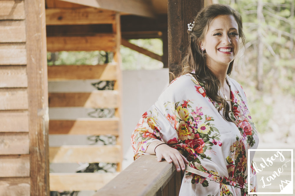 Rustic Montana Wedding_Missoula Wedding Photographer_Grey Wolf Ranch_Kelsey Lane Photography_Bride Getting Ready_Flower Silk Robe_Bridal Robe