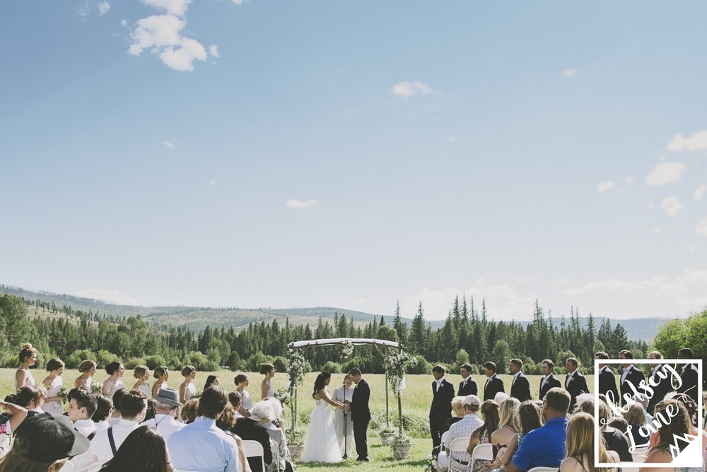 Rustic Montana Wedding_Missoula Wedding Photographer_Grey Wolf Ranch_Kelsey Lane Photography_Outdoor Montana Wedding Ceremony