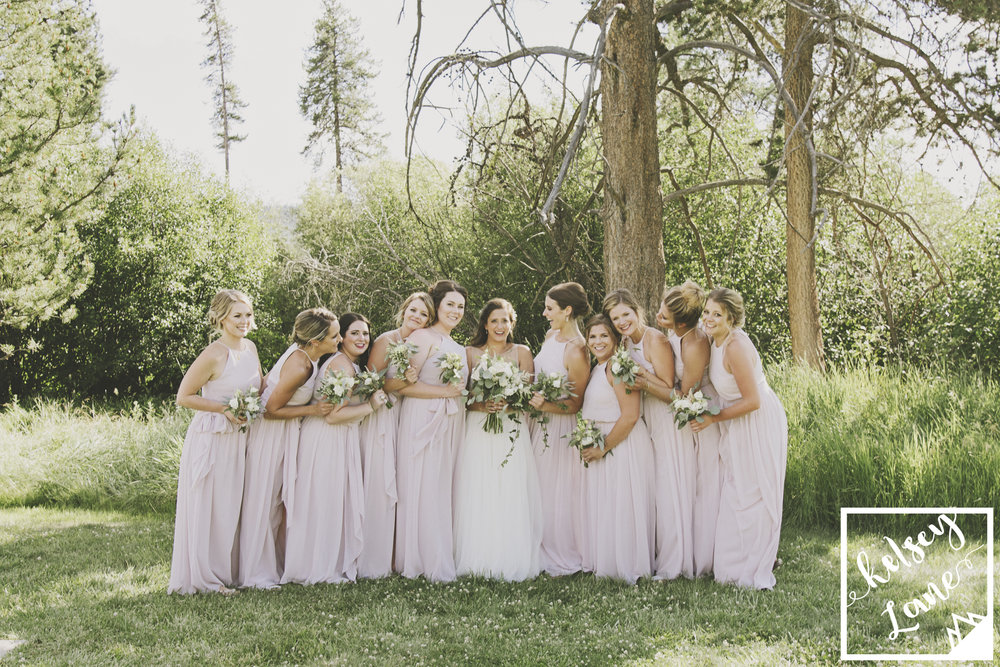 Rustic Montana Wedding_Missoula Wedding Photographer_Grey Wolf Ranch_Kelsey Lane Photography_Bridesmaids