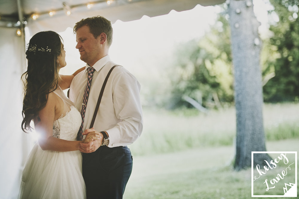 Rustic Montana Wedding_Missoula Wedding Photographer_Grey Wolf Ranch_Kelsey Lane Photography_Cute First Dance